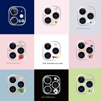 Para Iphone 11 Pro Max, película protectora para lente de cámara, bonita cámara de dibujos animados, pegatina protectora para Iphone 11pro Max, funda de vidrio templado