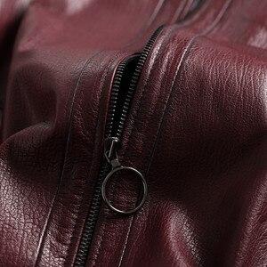 Image 5 - AYUNSUE gerçek deri ceket 2020 bahar sonbahar ceketi kadınlar 100% hakiki koyun derisi ceket kadın bombacı ceketler Chaqueta Mujer benim