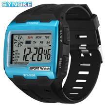 SYNOKE Mode Männer Digitale Uhren Sport Platz Zifferblatt männer Wasserdichte Armbanduhr LED Männlichen Elektronische Uhr Relogio Masculino