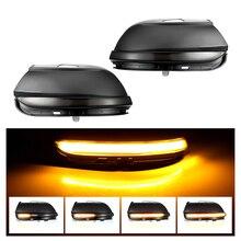 עבור פולקסווגן Scirocco MK3 פאסאט B7 CC EOS חיפושית דינמי מראה מחוון נצנץ צד מירור LED הפעל אות אור סדרתית אור