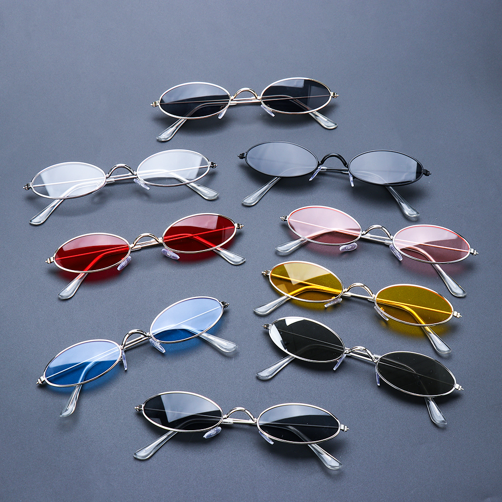 Fashion Vintage Shades Sun Glasses Elegant okulary Retro Small Oval Sunglasses for Men Women Eyeglasses gafas oculos 1