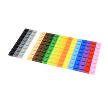 3460 30pcs/lot 1X8 Plate Building Block Part DIY Toy For Kids Multicolor Creative B583