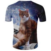 2020 new men's O-neck short-sleeved cute lightning cat t-shirt funny animal men's custom t-shirt