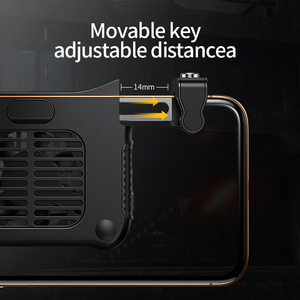 Image 5 - عصا تحكم من Baseus Gamepad مزودة بمشغل لألعاب PUBG L1RL مزودة بزر إطلاق نار ومبرد لهاتف iPhone Andriod للتحكم بالهاتف المحمول