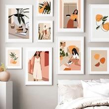Toile d'art mural moderne avec plantes uniques, affiches et imprimés abstraits pour femmes, pour salon, chambre à coucher, décoration de la maison