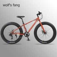 Lobo fang mountain bike 24 velocidade da bicicleta 26 bicicletas gordas de estrada liga alumínio resistência borracha homem bicicletas frete grátis