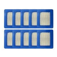 10 Pack 491588S Luftfilter Ersetzen für Briggs Stratton 491588 4915885 Flache Luftfilter Patrone Rasenmäher Filter