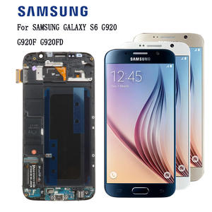 100% Original 5.1 inch SAMSUNG S6 LCD Display For SAMSUNG Galaxy G920 G920F SUPER AMOLED LCD With Frame Touch Digitizer Assembly
