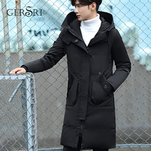 Men Branded Long Winter Jacket long coat High Quality cotton Parkas fashion thick clothing