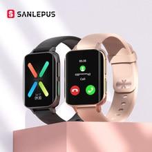 SANLEPUS – montre connectée pour hommes et femmes, appels Bluetooth, étanche, lecteur MP3, pour OPPO Android Apple Xiaomi, nouveau, 2021