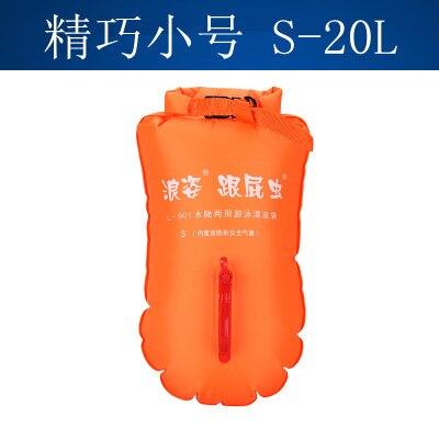 LANGZISPORTING Double-Balloon Stooge Swim Bag L-901 Thick Drifting Bag Triathlon Swimming Floats Equipment 20L