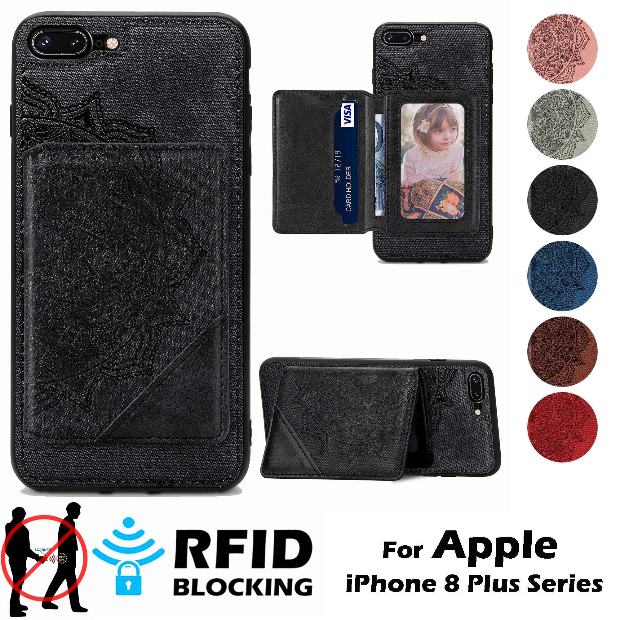 Nuova custodia per carte per iPhone 8 Plus custodia per iPhone8Plus Cover portafoglio tasca i Phone 6 6s 7 8 Plus Cover posteriore magnetica ...