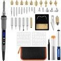 43 шт. Lcd деревянный комплект для выжигания, Пирография, ручка с различными температурными режимами, дровяные наконечники для сжигания дерев...