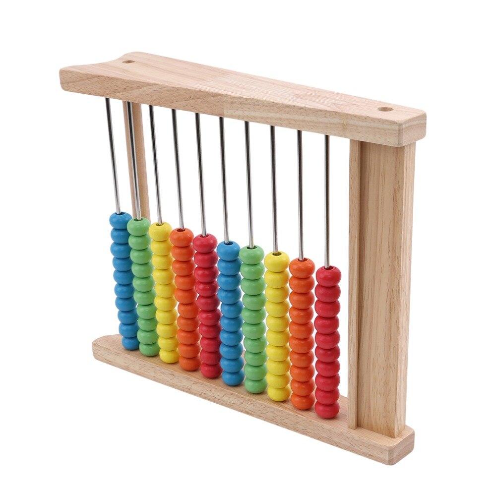 novo estilo de madeira criancas contas arco iris 04