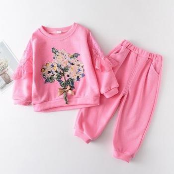 Dla dzieci chłopcy dziewczęta wiosenne jesienne ubrania zestawy dresy dziewczynek Bebe niemowląt garnitury sportowe noworodka dla dzieci na co dzień płaszcze bawełniane + spodnie 2 sztuk tanie i dobre opinie BibiCola Kobiet CN (pochodzenie) Moda COTTON Poliester 7-12m 13-24m Czesankowej REGULAR O-neck Pasuje prawda na wymiar weź swój normalny rozmiar