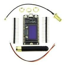 شاشة TTGO LORA32 868Mhz 915MHz ESP32 LoRa OLED 0.96 بوصة شاشة زرقاء بلوتوث واي فاي مع لوحة اكتشاف الكابلات