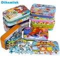 Heiße Neue 60 Stück Holz Puzzle Spielzeug für Kinder Cartoon Tier Fahrzeug Holz Jigsaw Baby Pädagogisches Spielzeug Kinder Weihnachten Geschenk