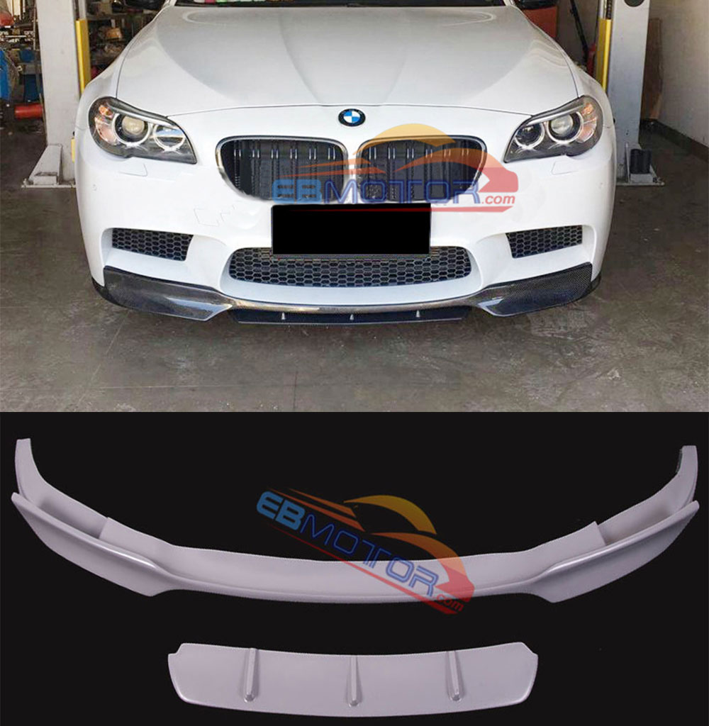 PAINTED Fiber glass Front <font><b>bumper</b></font> Lip Spoiler Splitte For <font><b>BMW</b></font> <font><b>F10</b></font> M5 B449F image