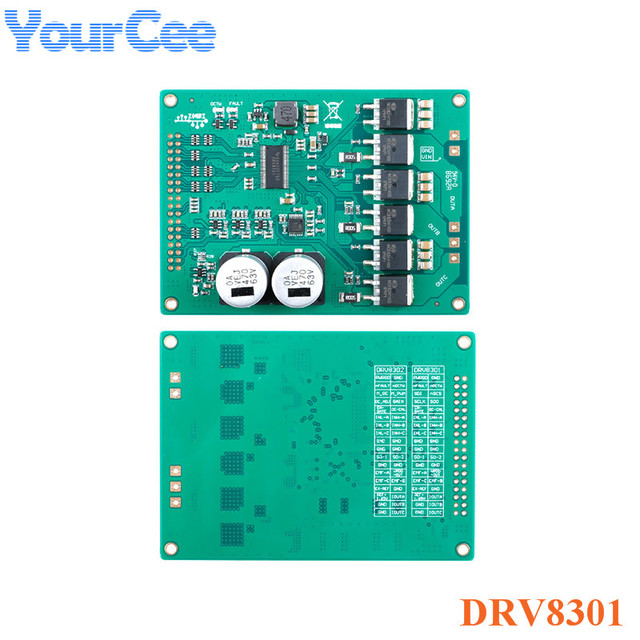 DRV8301 High Power Motor Driver Board Module St Foc Vector Control Board Module Dc 5.5-45V Borstelloze/pmsm Drive