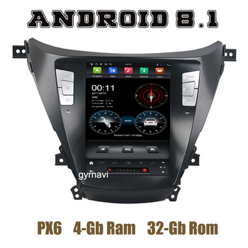 PX6 Tesla Style android 8.1 car radio gps player for Hyundai Elantra Avante I35 2011 2012 2013 with ips screen wifi usb 4+32G