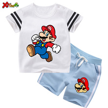 Kids Summer Clothing Set Toddler Baby Clothes Sets Boy Suit Outfit Children Clothing  Mario Costume Girls Fashion Outfits 6 Year christmas girls sports suits fashion toddler girl clothing sets 2017 spring autumn lace coat outfit clothes size 4 6 12 14 year