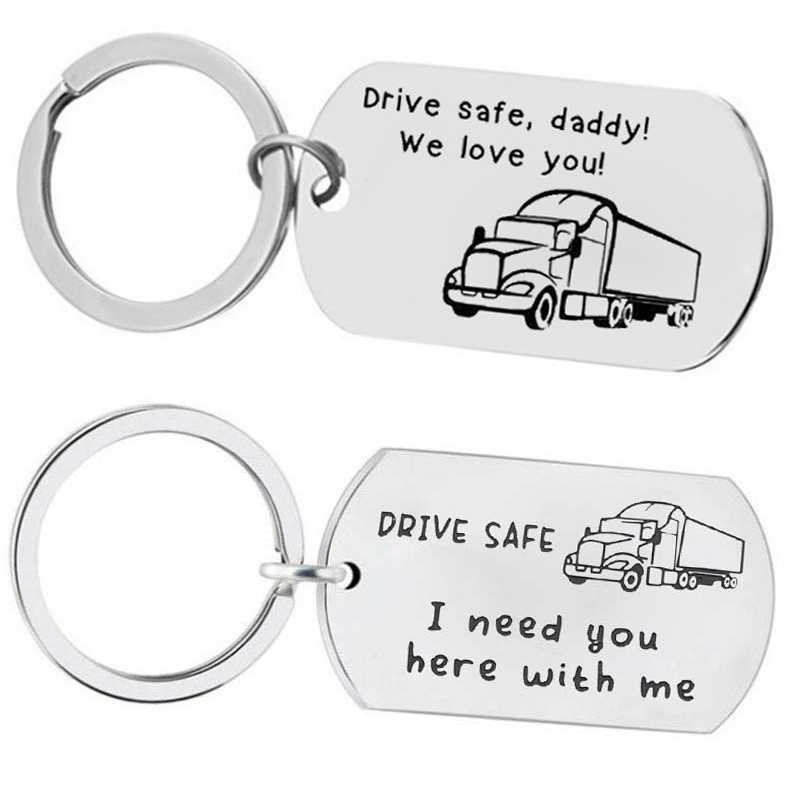 Lorry Trucker Keyring Keychain Road Creative Gift