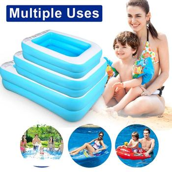 PVC Baby Kids Summer Water Play Mat Inflatable Swimming Pool Kids Inflatable Round Water Splash Play Pools Outdoor Pools dark pools