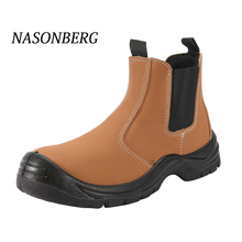 NASONBERG Breathable Mens Shoes Steel Boots Outdoor Puncture Proof Safety Work