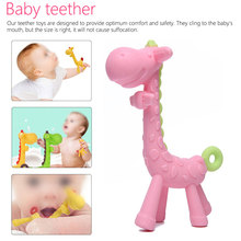 Baby teeth that fawn molar rod giraffe to bite the teether safty Teether Pacifier Cartoon Teething Nursing Silicone