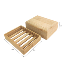 Durable Soap Tray Holder Storage Natural Bamboo Soap Dish Environmental Wooden Soap Rack Cover Plate Box Container For Bathroom