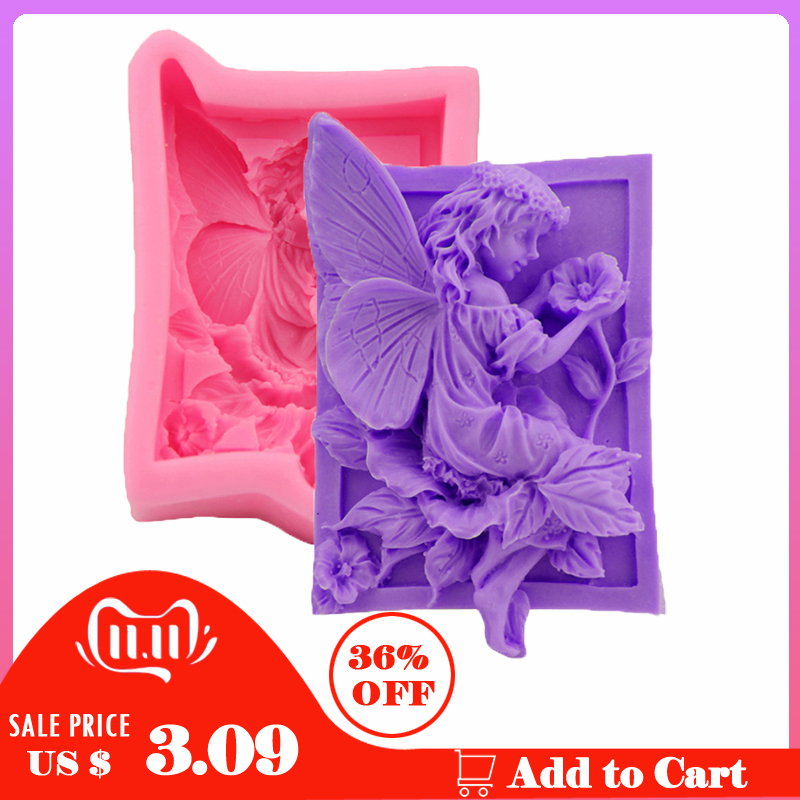 Silicone Soap Mold Angel Girl Making Form For Making Fondant Mould Silicon Cake Decorating DIY Handmade Sugarcraft