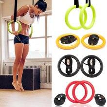 Высокое качество ABS упражнения фитнес гимнастические кольца для тренажерного зала упражнения Кроссфит подтягивания мышцы Ups тренировки для домашнего спортзала кросс фитнес A