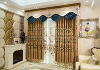 Furong Rice Wine High Precision Embroidered Cheney Curtains for Living Dining Room Bedroom.
