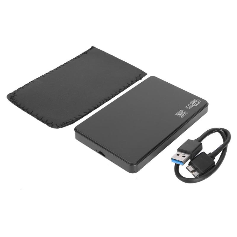 2.5 Inch USB 3.0 Micro-B To SATA External 6-Gbps SSD Hard Drive Enclosurehard Disk Case With HDD Bag For Windows Mac OS