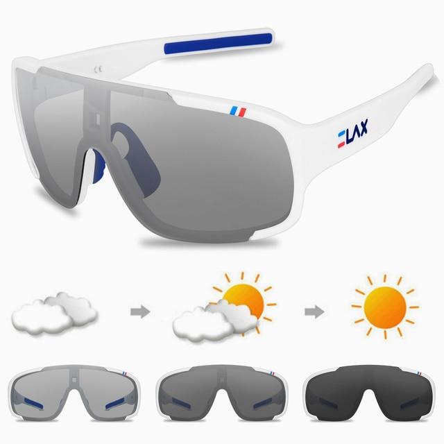 Elax polarizado e photochromic ciclismo óculos de ciclismo ao ar livre óculos de sol esportes das mulheres dos homens mtb bicicleta 6