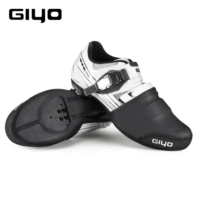 GIYO Cycling Shoes Covers Waterproof Winter Warmers Half Toe Shoe Cover For Mtb Road Shoes Reflective Sneakers Cycling Overshoes