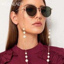 Fashion Simulated Pearl Glasses Chain Sunglasses Chain Glasses Strap For Women Men Reading Landyard