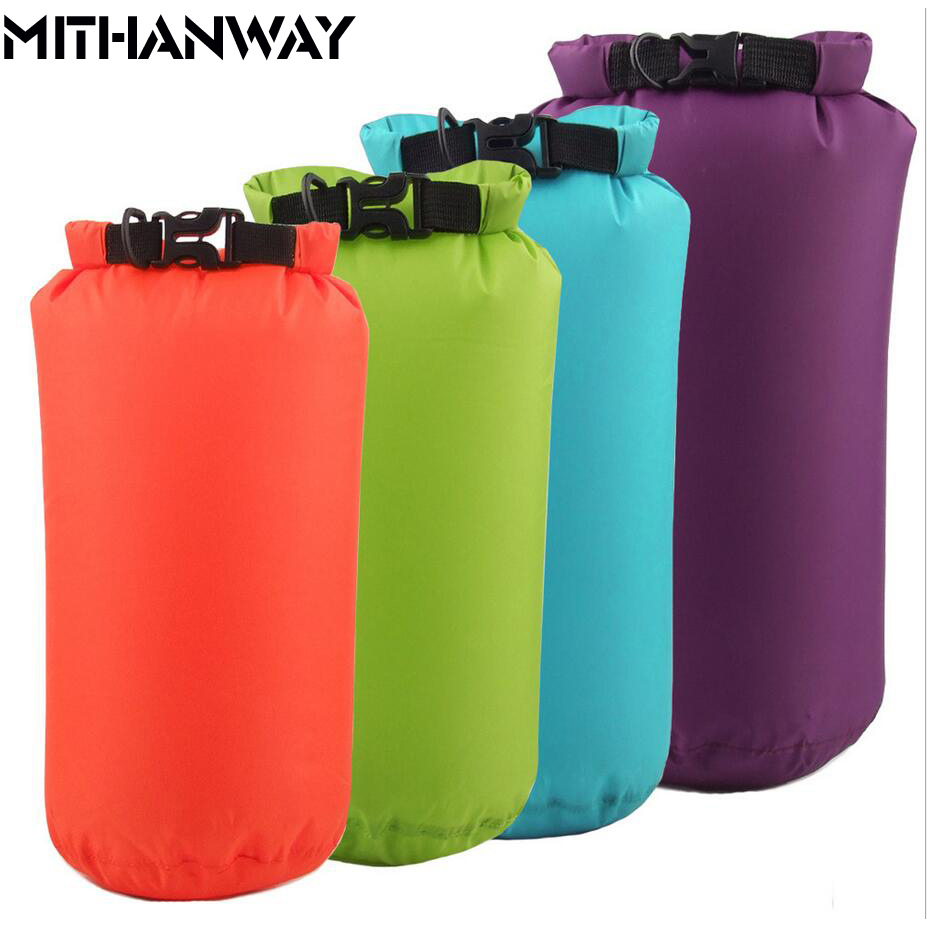 8L 15L Bucket PVC Bag Outdoor Dry Waterproof Swim Bag Dry Bag Sack Floating Dry Gear Bags For Boating Fishing Rafting Swimming