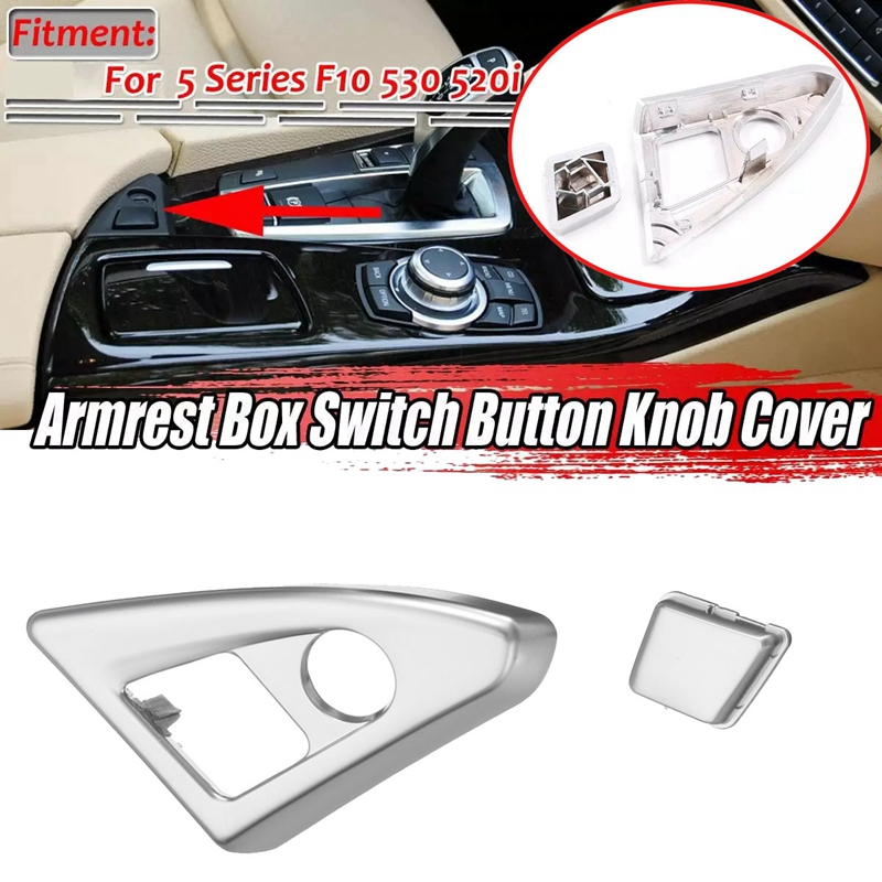 Car Center Console Armrest Box Switch Button Knob Cover Trim For-BMW 5 Series F10 523 525 528 2011-2013