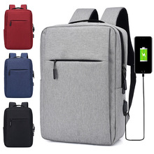 Man Business Backpack Men's Backpack College High Middle School Bags for Teenager USB Laptop Travel Backpacks Mochila Masculina