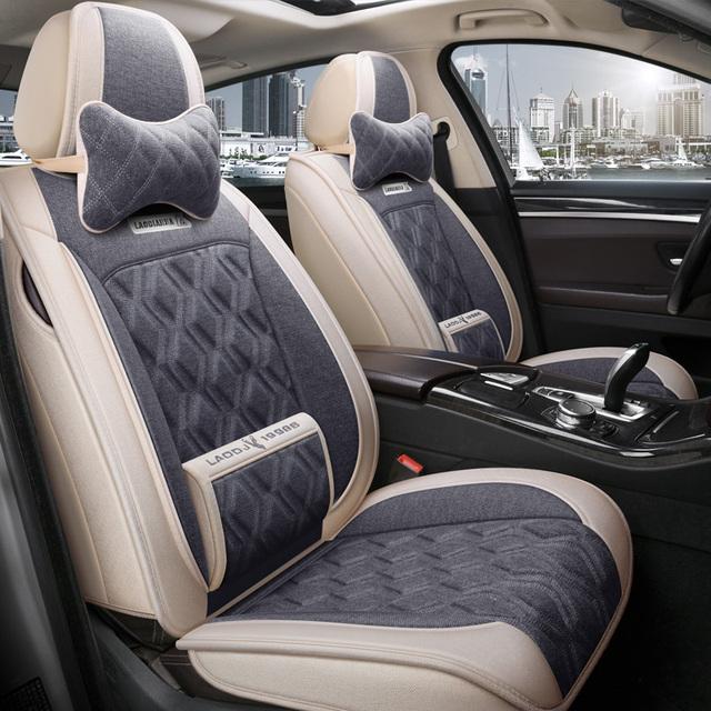 Full Coverage flax fiber car seat covers for nissan, almera, n16, g15, classic altima