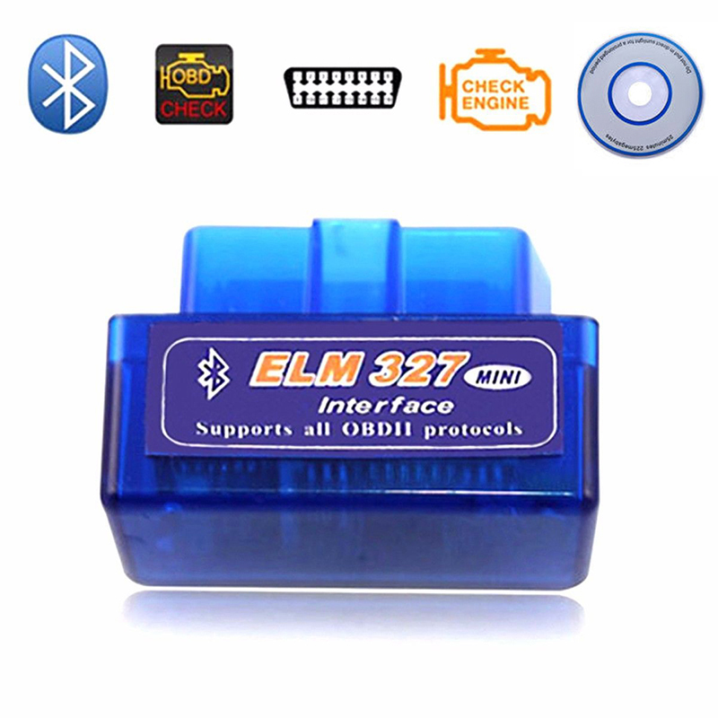 Mini V2.1 ELM327 OBD2 Code Reader Scan Tool Bluetooth Interface Car Scanner Diagnostic-Tool Auto Torque Scanner for Android IOS
