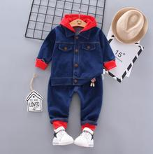 BibiCola baby boys clothing sets 2020 autumn spring kids boys jeans clothes sport suit toddler boys casual tracksuit clothing cheap Spandex Cotton 0-6m 7-12m 13-24m CN(Origin) Unisex O-Neck zipper Full Regular Fits true to size take your normal size Worsted