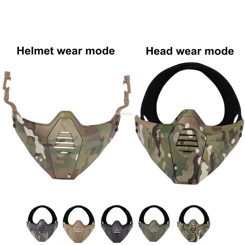 Tactical Half Face Masks Military CS Game Protective Mask Airsoft Paintball Hunting Shooting Airsoftsports Mask