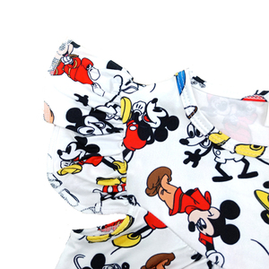 Image 3 - 2020 New Designs Spring/Summer Baby Girls Pearl Dress Cute Mickey Printed Clothes Toddlers Milk Silk Casual Dresses Wholesales