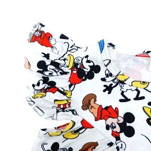 Image 3 - Весна лето 2020, новый дизайн, жемчужное платье для маленьких девочек, милая одежда с принтом Микки, повседневные платья из молочного шелка для малышей, оптовая продажа