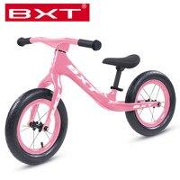 12 인치 균형 자전거 발 슬라이드 자동차 탄소 섬유 프레임 키즈 자전거 스테퍼 아이들을위한 완벽한 자전거 경량