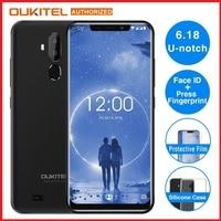 OUKITEL C12 Face ID 3G Smartphone 6.18 19:9 Android 8.1 MT6580 Quad Core 1.3GHz 2GB+16GB 8MP+2.0MP Press Fingerprint Mobile