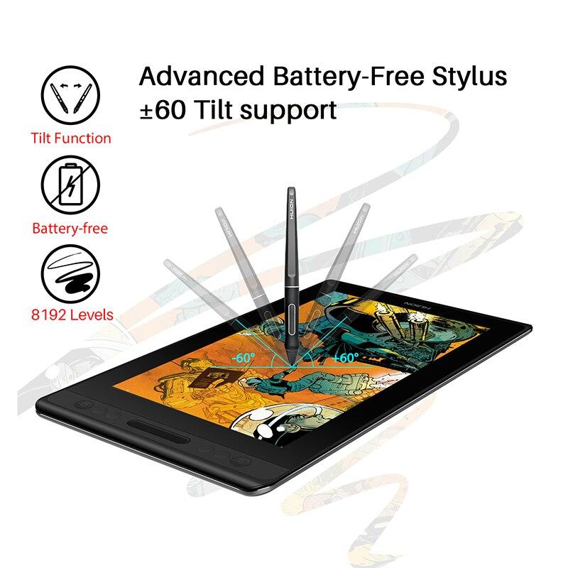 Image 2 - HUION Kamvas Pro 12 Christmas Gift Pack Pen Tablet Monitor Art Graphics Drawing Pen Display Monitor Tilt 60 Battery free EMRDigital Tablets   -