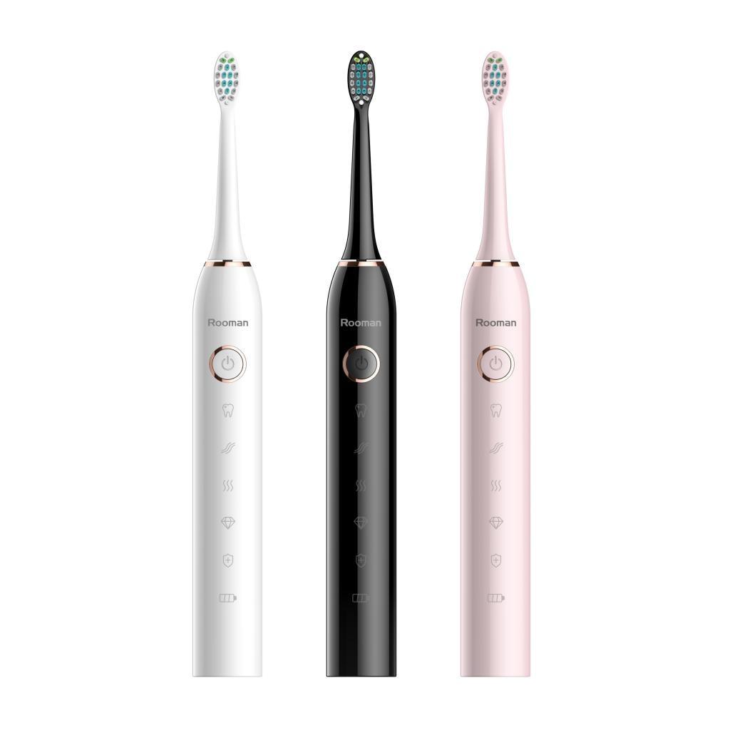Электрическая перезаряжаемая зубная щетка для глубокой чистки с сменной головкой